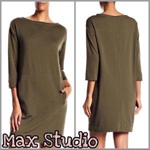 Max Studio | French Terry Sweater Dress SZ XS